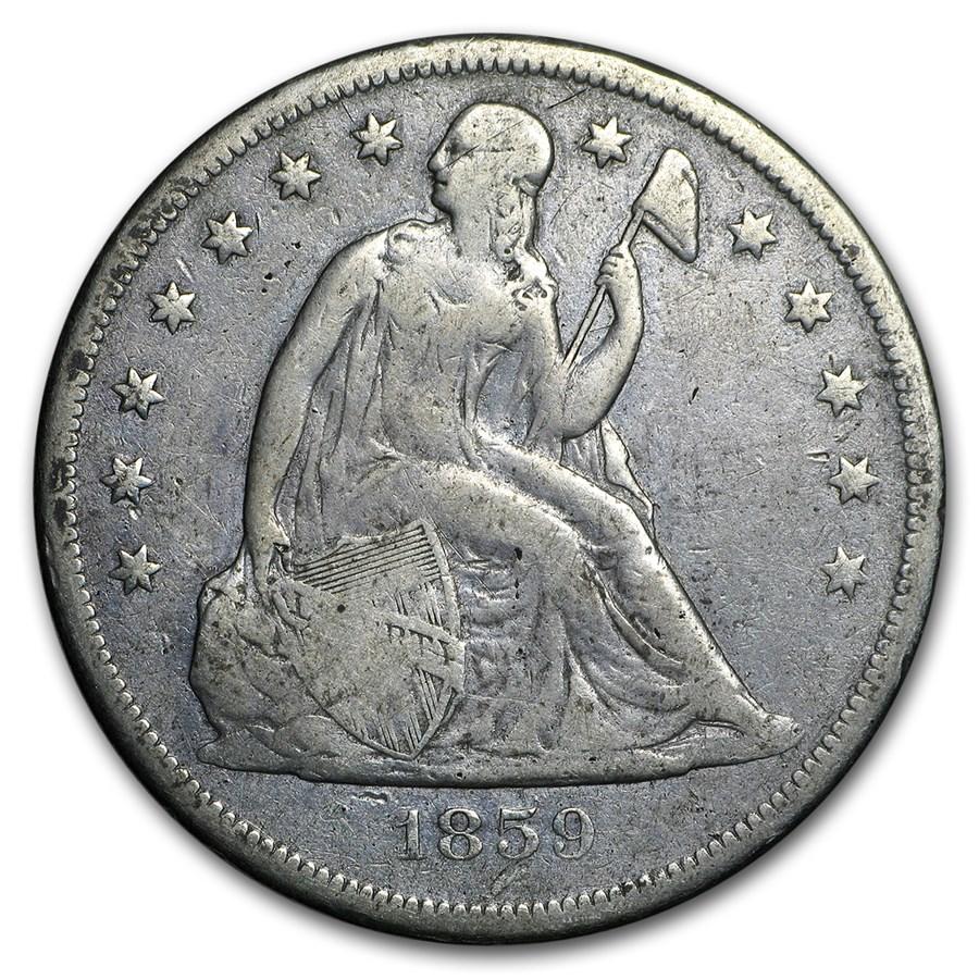 1859-O Liberty Seated Dollar Fine