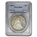 1859-O Liberty Seated Dollar MS-61 PCGS