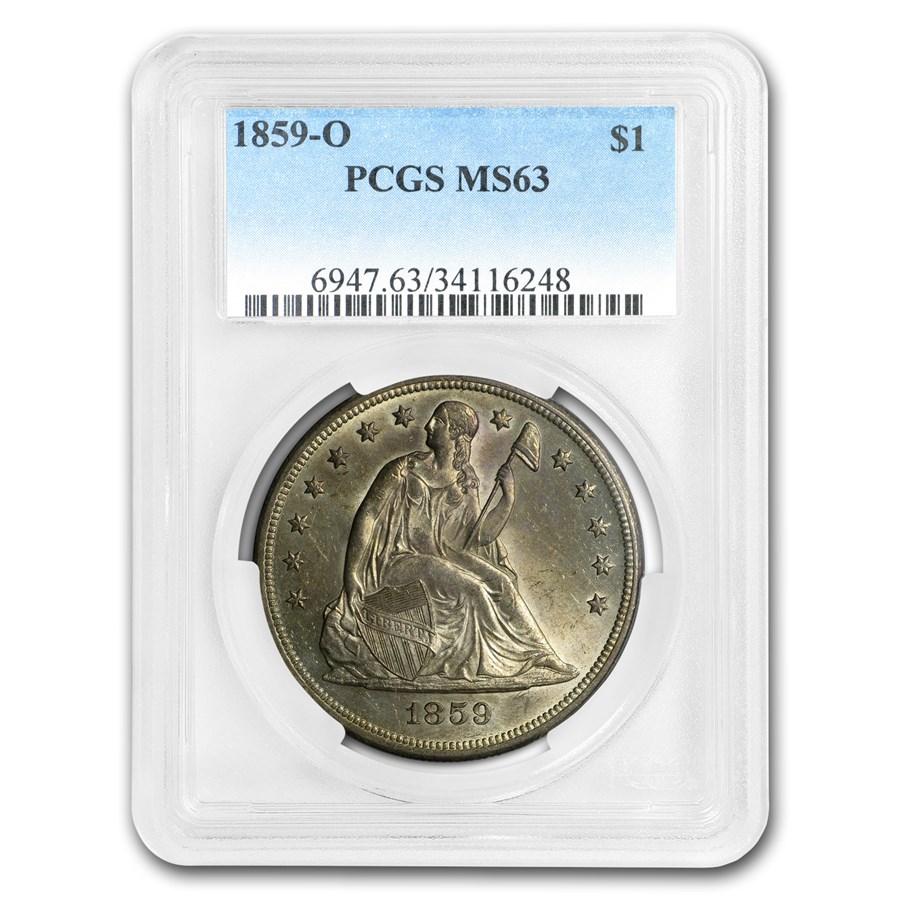 1859-O Liberty Seated Dollar MS-63 PCGS