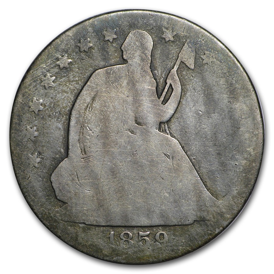 1859-O Liberty Seated Half Dollar Good