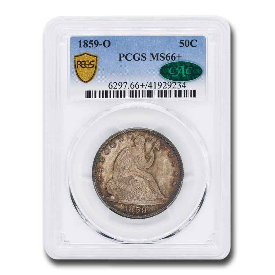 1859-O Liberty Seated Half Dollar MS-66+ PCGS CAC