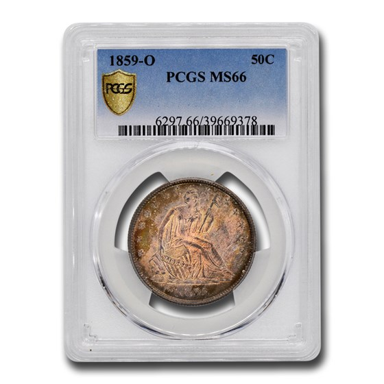 1859-O Liberty Seated Half Dollar MS-66 PCGS