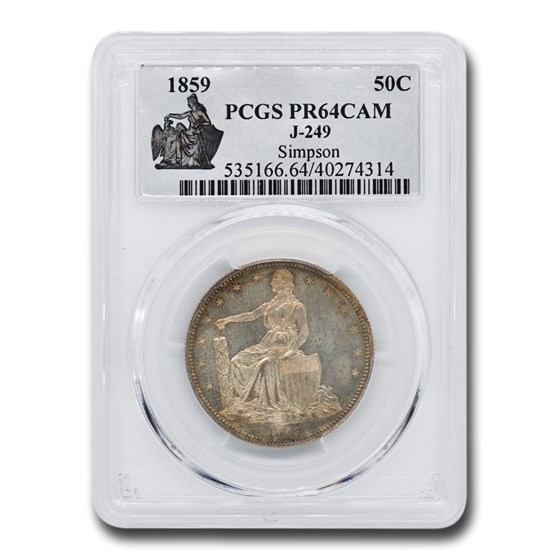 1859 Paquet Half Dollar Pattern PR-64 Cameo PCGS (J-249)