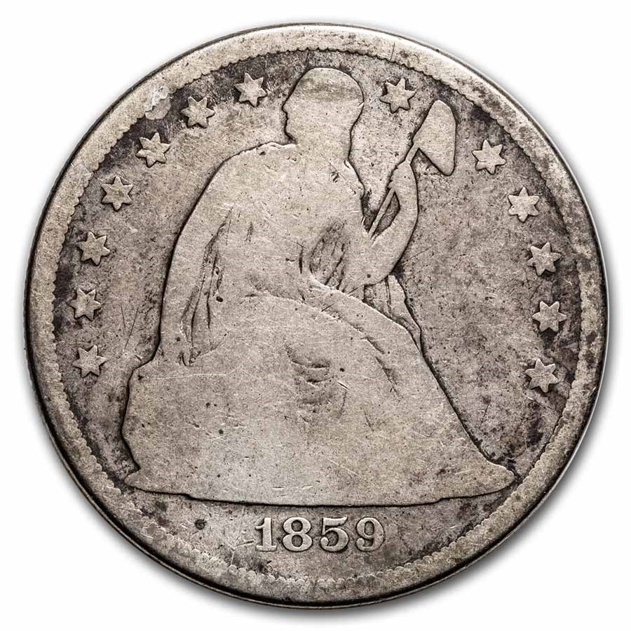 1859-S Liberty Seated Dollar Good