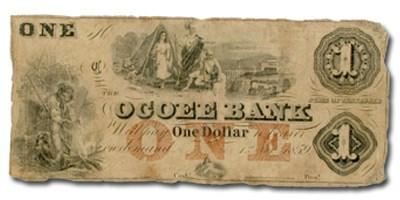 1859 The Ocoee Bank, TN $1.00 Note TN-25 VG