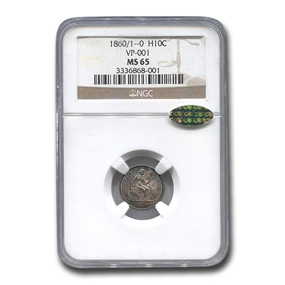 1860/1__0 Liberty Seated Half Dime MS-65 NGC CAC (VP-001)
