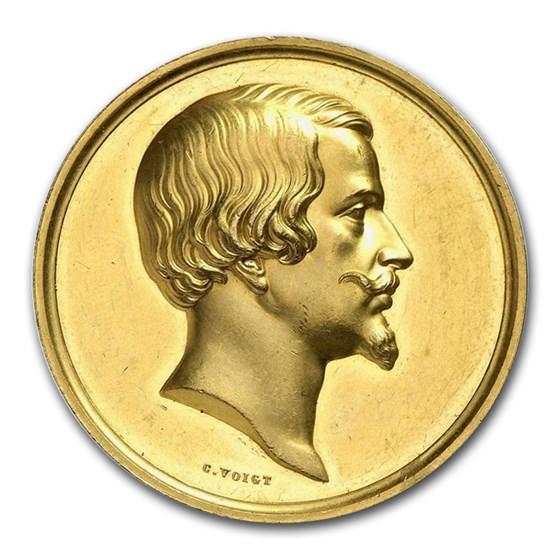1860-1880 German States Bavaria Gold Medal MS-62 NGC
