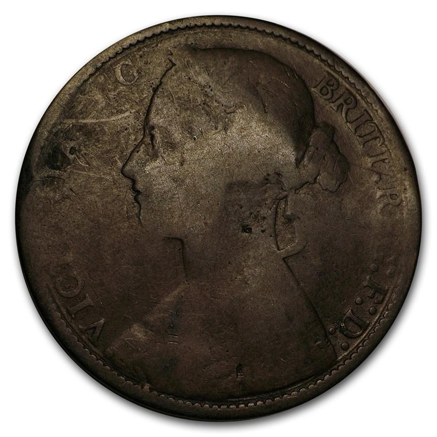 1860-1895 Great Britain Victoria Young Head Penny Cull (Random)