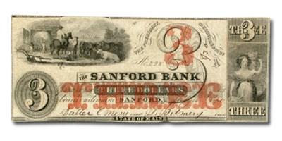 1860 $3.00 The Sanford Bank of Sanford, ME ME535 XF