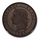 1860 Great Britain Bronzed Pattern Penny PR-64 NGC (Brown)