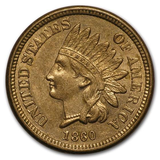 1860 Indian Head Cent AU