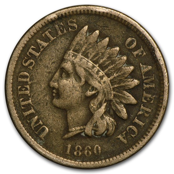 1860 Indian Head Cent Fine