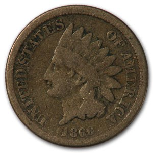 1860 Indian Head Cent Good
