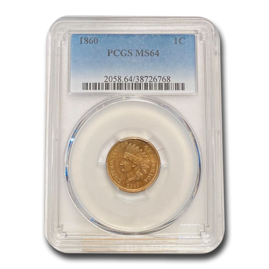 1860 Indian Head Cent MS-64 PCGS