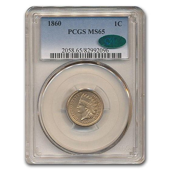1860 Indian Head Cent MS-65 PCGS CAC