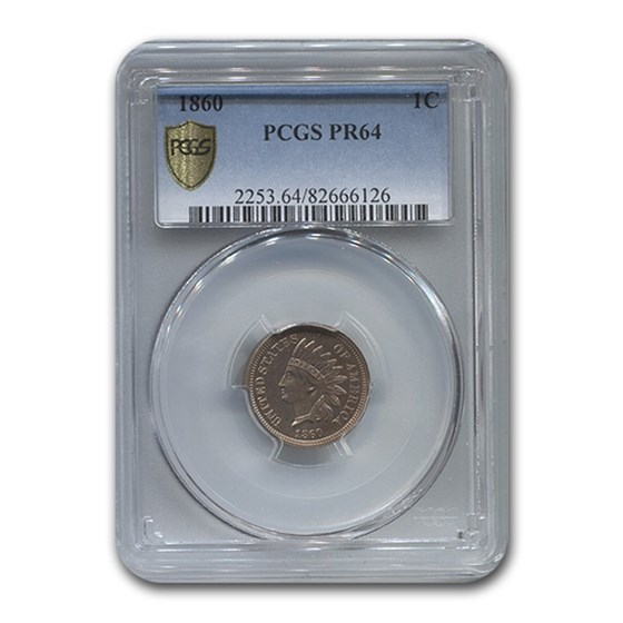 1860 Indian Head Cent PR-64 PCGS