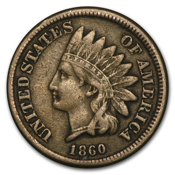 1860 Indian Head Cent VF