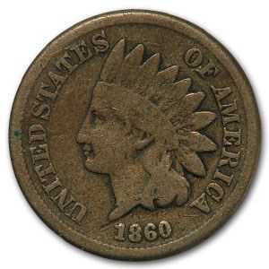 1860 Indian Head Cent VG