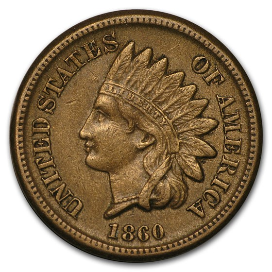 1860 Indian Head Cent XF