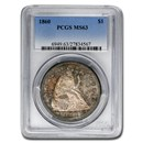 1860 Liberty Seated Dollar MS-63 PCGS