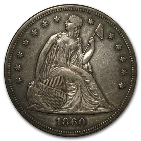 1860 Liberty Seated Dollar XF