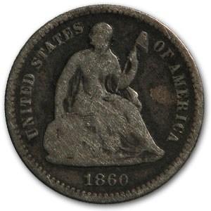 1860 Liberty Seated Half Dime Good