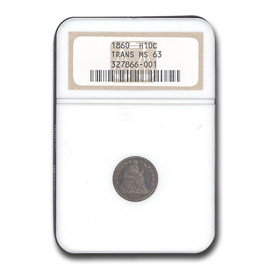1860 Liberty Seated Half Dime Transitional MS-63 NGC
