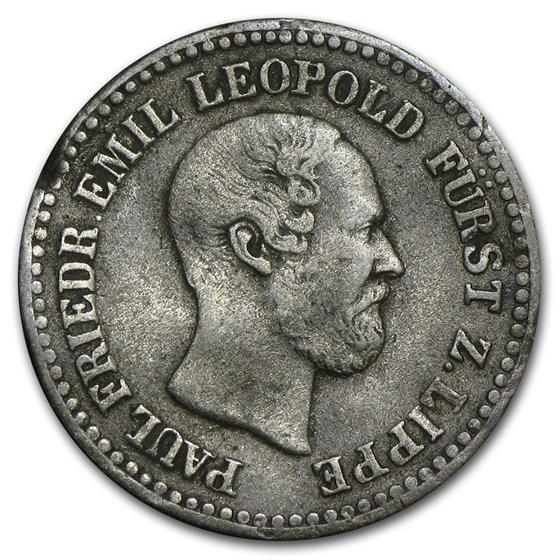 1860 Lippe-Detmold Silver Groschen F+