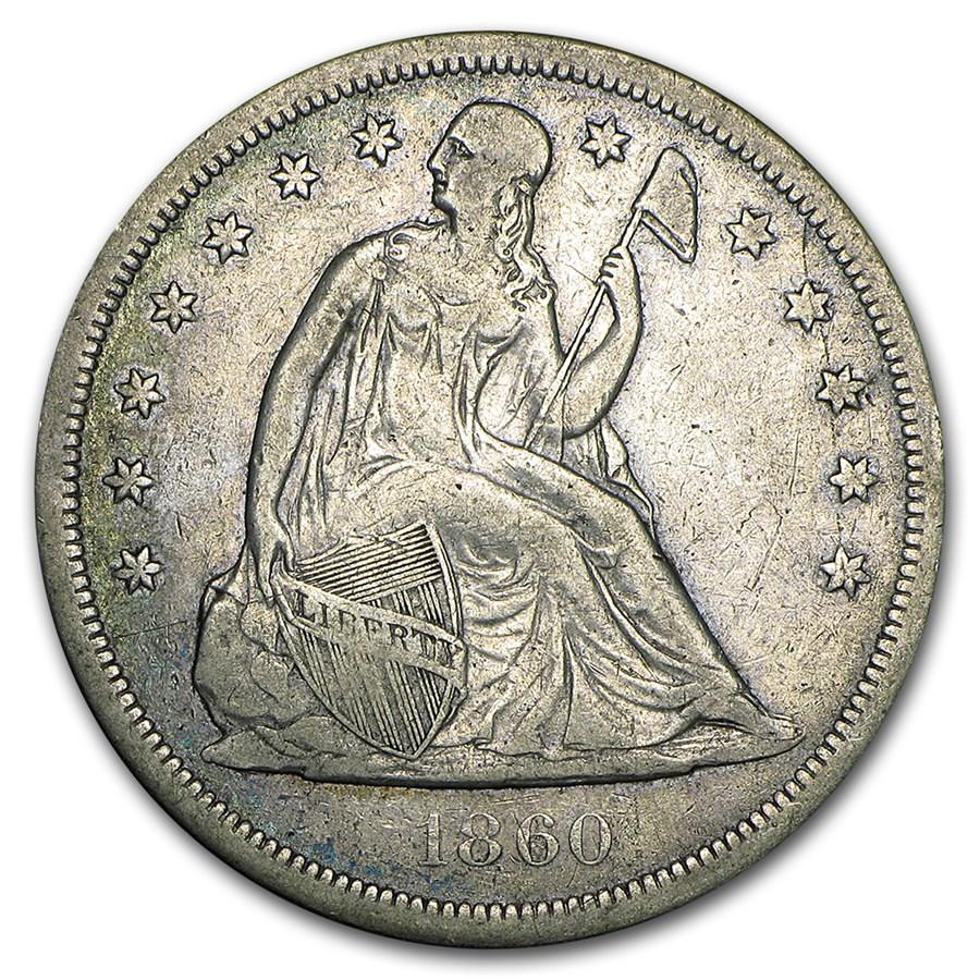 1860-O Liberty Seated Dollar Fine