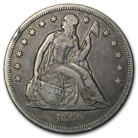 1860-O Liberty Seated Dollar VF