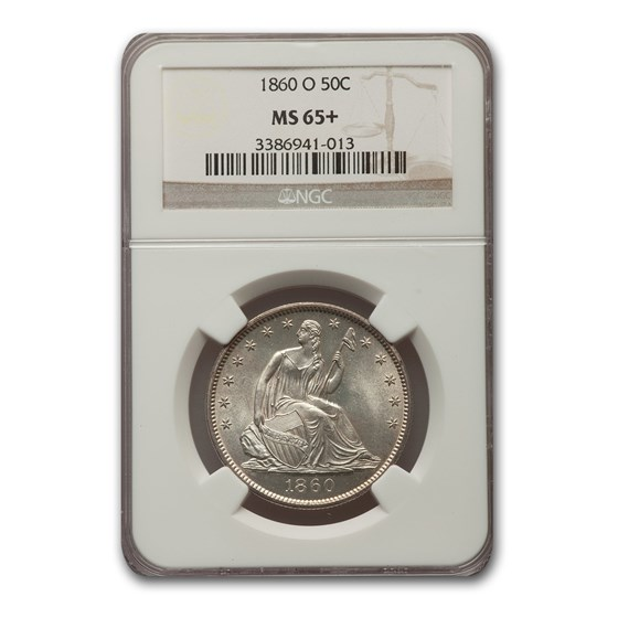 1860-O Liberty Seated Half Dollar MS-65+ NGC