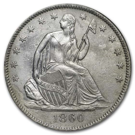 1860-O Seated Half High 0 NGC (SS-Republic, Book display)