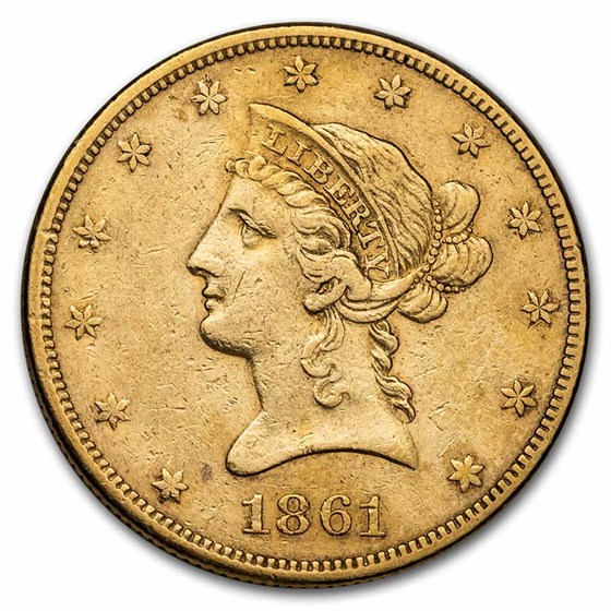 1861 $10 Liberty Gold Eagle XF