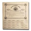 1861 $1000 CSA Bond 8% / 15yr Jefferson Davis/Tyler(CR-95A) XF