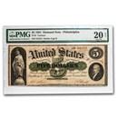 1861 $5.00 Demand Note-Philadelphia VF-20 PMG