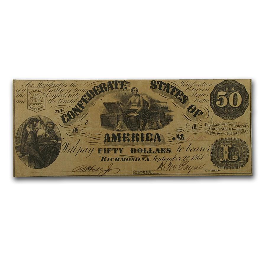 1861 $50 (T-14) Moneta & Chest VF