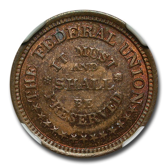 1861-65 The Federal Union Civil War Token MS-65 NGC (F-2212/324A)