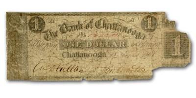 1861 Bank of Chattanooga, TN $1.00 Note TN-10 Good