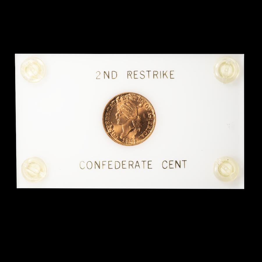 1861 Confederate Cent 2nd Restrike BU