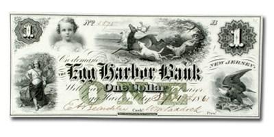 1861 Egg Harbor Bank, NJ $1.00 Note NJ-115 CU