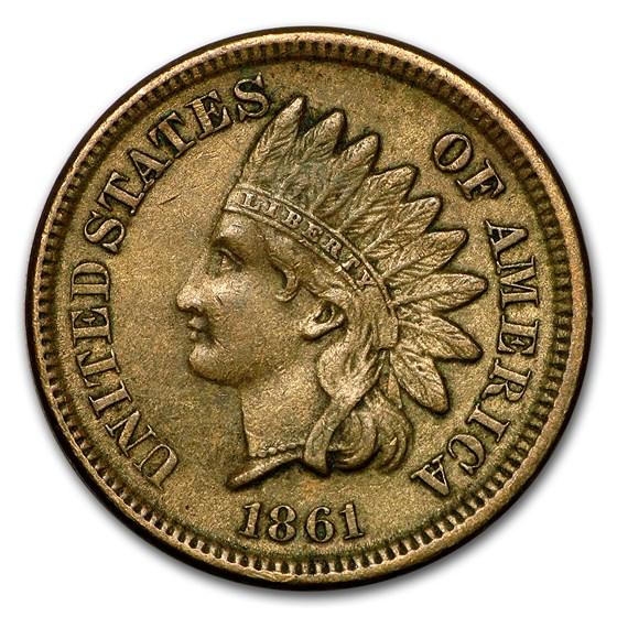 1861 Indian Head Cent AU