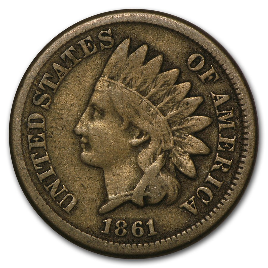 1861 Indian Head Cent Fine