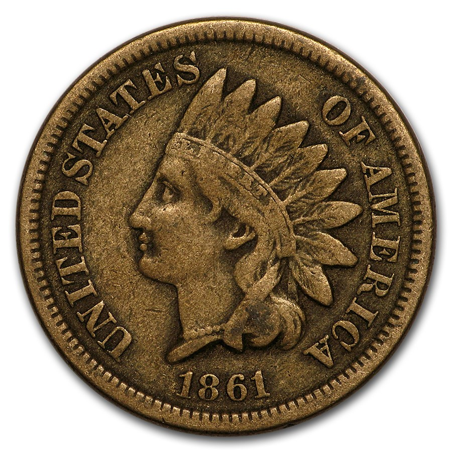 1861 Indian Head Cent VF