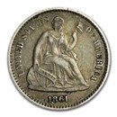 1861 Liberty Seated Half Dime VF