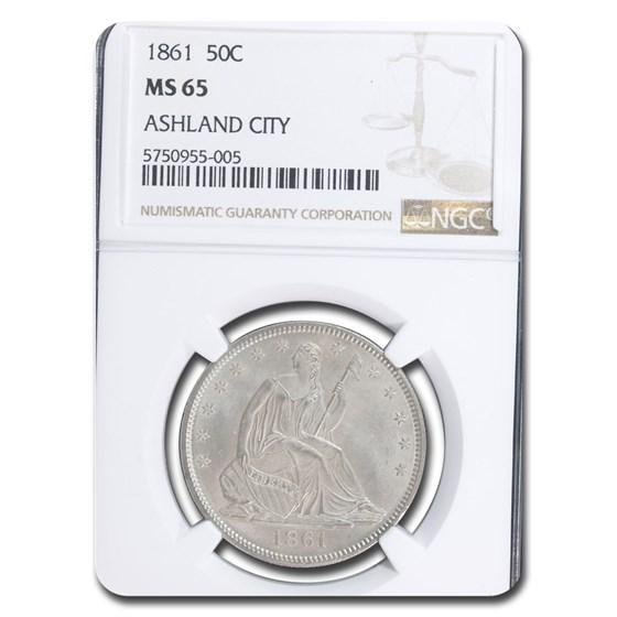 1861 Liberty Seated Half Dollar MS-65 NGC