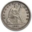 1861 Liberty Seated Quarter AU