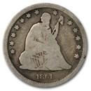 1861 Liberty Seated Quarter VG