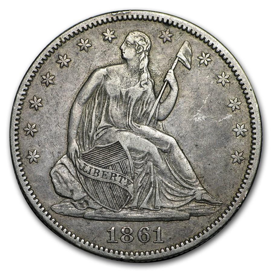 1861-O Liberty Seated Half Dollar VF