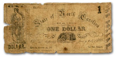 1861 The State of North Carolina $1.00 Cr#24 VG