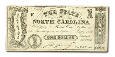 1861 The State of North Carolina $1.00 Cr#88A XF